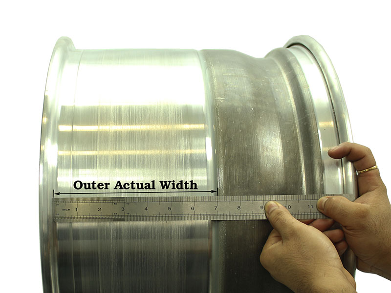 Outer Actual Width